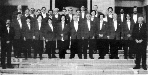 Unsere aktiven Mitglieder bei einem Gastspiel in Leukerbad 1996