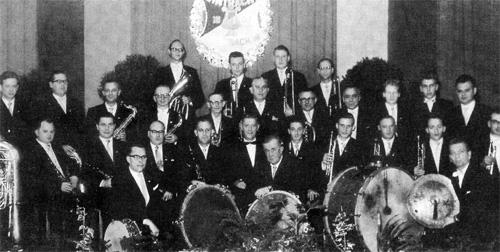 Die Aktiven des Musikvereins Eintracht Offenbach im Jahre 1958