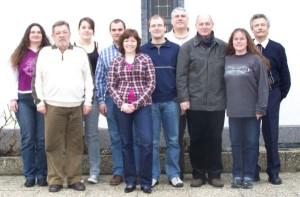 Bildbeschreibung von links nach rechts: Sigrid Tigges, Manfred Groß, Isabel Roth, Markus Merkel, Simone Skupin, Christian Sporn, Rainer Roth, Horst Ludwig, Martina Ockel, Georg Zahn